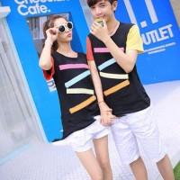(Sepasang) CP ZAGGY BLACK Kaos Oblong Couple