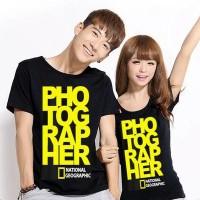 CP YELLOW PHOTOGRAPHER Kaos Couple (Harga Sepasang)