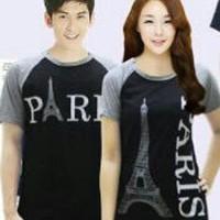 (sepasang) CP KIMONO PARIS HITAM Kaos Couple