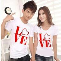 CP WHITE LOVE Kaos Couple (Harga Sepasang)