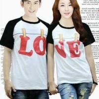 (sepasang) CP KIMONO CLOTHSPIN WHITE Kaos Couple