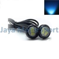1 Pasang Lampu LED Eagle Eye DRL Black Housing 10W 23MM - Ice Blue