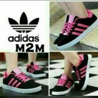 harga Sepatu Olahraga Adidas Hitam Pink Wanita Cewek Cewe Sport Sekolah Boot Tokopedia.com