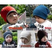 Jual Topi Kupluk Bolak-Balik (topi anak) Murah