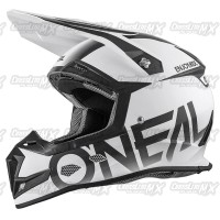 Helm Cross Oneal 5 Series BLOCKER Black White /HELMET O'NEAL Hitam Put