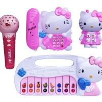 Mainan Anak - Hello Kitty Combination Figure Microphone Telepon Piano