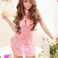 Sexy Cheongsam Lingerie Import Murah LM 3333 Pink -B44