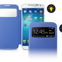 Samsung Original S View Flip Cover for Samsung Galaxy S4 - Blue