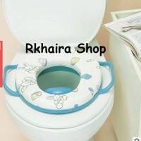 Jual Potty Seat with Handle Training Toilet Bayi Alas Dudukan Toilet Empuk Murah