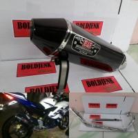Knalpot racing YOSHIMURA R77 carbon fullset R15/Xabre/vixion dll