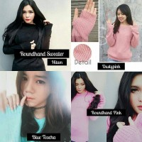 harga Sweater Cewek New Round Hand (sweater Lucu, Sweater Murah, Bandung) Tokopedia.com