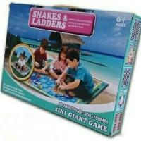 Mainan Anak Keluarga Karpet Ular Tangga Snakes and Ladders Giant Game