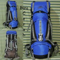 Carrier Tas Gunung Keril Sioux 60L Biru Cerah Ori Not Deuter, Eiger