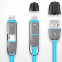 Usb 2in1 Cable Data & Charger Iphone & Android