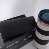 Gelas Mug Replika Lensa Kamera Canon 70-200mm tutup Fish Eye