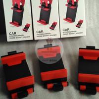 harga Car Steering Wheel Phone Holder Dudukan Handphone Pada Stir Mobil Tokopedia.com