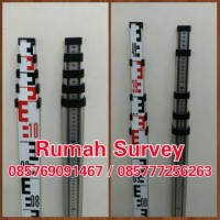 RAMBU UKUR 5M / BAK UKUR / LEVELLING STAFF 5 M + Nivo