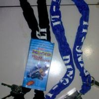 SPECIAL Kunci Rantai + Gembok Baja Dingli Motor Di Pagar Garasi Anti