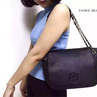 JUAL TORY BURCH MARION SMALL FLAT SHOULDER BAG AUTHENTIC ORIGINAL