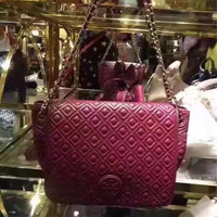 JUAL TAS TORY BURCH MARION QUILTED SMALL FLAP SHOULDER BAG AUTHENTIC