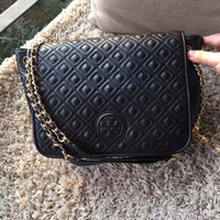 JUAL TORY BURCH MARION QUILTED SMALL FLAP SHOULDER BAG AUTHENTIC ORI