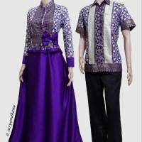 Couple batik sarimbit gamis pesta baju pasangan seragam SRG 484-2
