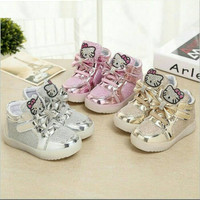 Jual Sepatu Hello Kitty Children LED Shoes Lampu Nyala Anak Murah Reseller Murah