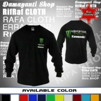 sweater monster energy kawasaki/jaket/hoodie/jumper