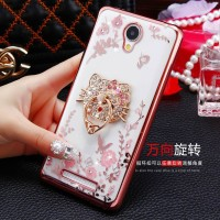 Softcase FLOWER DIAMOND Oppo F1 F1f A35 Chrome TPU case HP Silicone