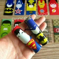 Jual Plastik / PVC Shrink Wrap Baterai 18650 Superheroes & Other Brand Murah