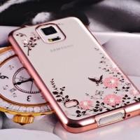 Casing Hp Cover Samsung S5 S6 S6 EDGE S7 S7 EDGE Flower Bling Case
