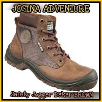 Safety Jogger Dakar Brown / Coklat - Sepatu Safety Shoes