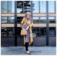 Aqila Tunik Katun Paris Kaos Wanita Kemeja Wanita Baju Atasan