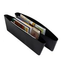 Auto Organizers Seat Holder Gap Pocket 2 Pcs-Black