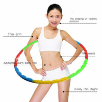 alat fitness&gym Child Removable Soft Hula Hoop dapat dilepas pasang