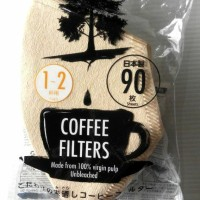 Jual Coffee Paper Filters Made in Japan isi 90 Lbr Kertas Saring Teh Kopi Murah