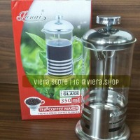 FRENCH PRESS COFFEE PLUNGER STAINLESS / COFFE & TEA MAKER 350ML