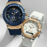 Jam tangan couple guess connect original smartwatch valentine edition