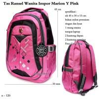 tas murah ransel wanita impor marion Y pink