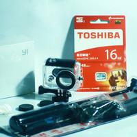 Paket Lengkap Kamera Xiaomi Yi + Monopod + Waterproof Kingma + Sandisk