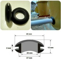 "Grommet Rubber Seal 1/2"" utk Dutch Bucket Hidroponik dan Aquaponik"