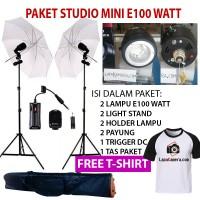 paket studio lampu 100 watt, strobo E100