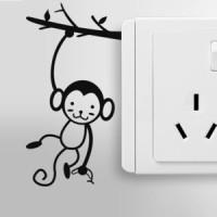 Jual Stiker Dekorasi Saklar Lampu Motif Monkey Monyet Decal Wall Sticker Murah