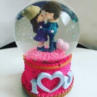 Kotak Musik Snow Ball Kado Valentine Romantis Couple Anniversary Unik