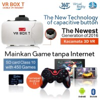 Jual VR BOX T+T3+M01 3D VR Cardboard 2 w/ Capacitive Touch,Glasses kacamata Murah