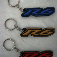 Gantungan Kunci Karet Logo Motor Yamaha R6
