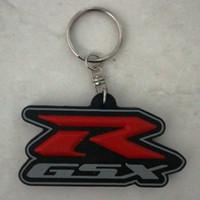 Gantungan Kunci Karet Logo Motor Suzuki GSX-R Series