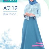 gamis alnita AG 19 biru toska