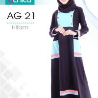 gamis alnita AG 21 hitam