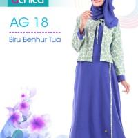Gamis alnita AG 18 biru benhur